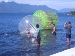 water balls, pelotas inflables  y water roller o tubo inflable