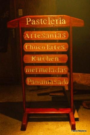letreros tallados de madera en batuco, lampa