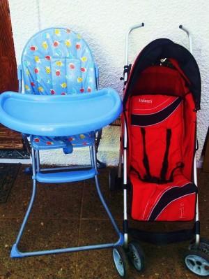 coche paragua y silla plegable infanti