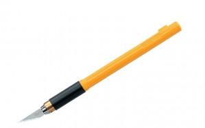 Cuchillo tipo lápiz antideslizante ak-4 + repuestos  olfa