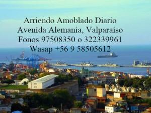 Renovados, amoblados, rento diario desde $25000, valparaiso, costa