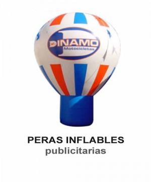 Peras inflables publicitarias. pelotas, cubos, arcos de meta, globos