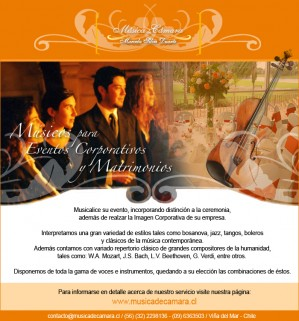 coro femenino y masculino para matrimonio en vitacura
