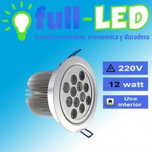 Embutido full-led //12 watt/ a la vista/marco gris/envios a todo chile