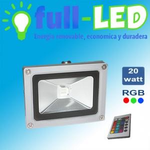 foco proyector full-led  20 watt  rgb/envios a todo chile