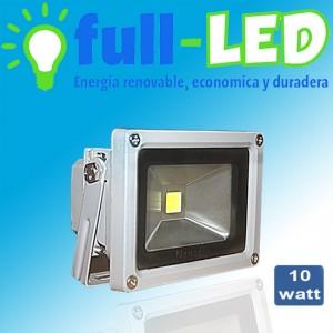 Foco proyector full-led 10 watt/luz fria /envios a todo chile