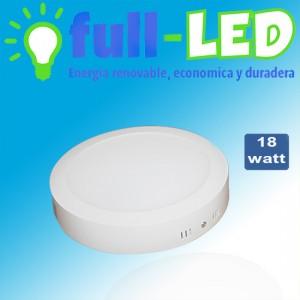 Sobrepuesto  full-led 18 watt/luz fria/ envios a todo chile