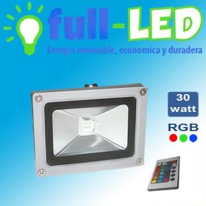 Proyector full-led 30 watt rgb+control remoto/envios a todo chile