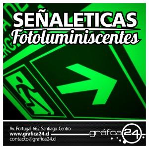 SeÑaleticas fotoluminiscentes, vias de evacuacion, letreros, seÑales