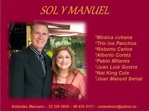 cantantes cubanos sol y manuel con amplio repertorio