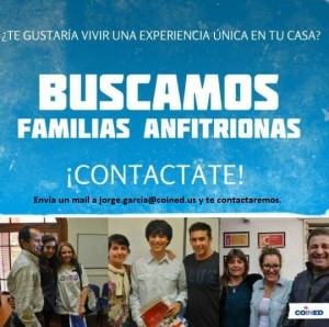 buscamos familias anfitrionas en santiago escuela coined