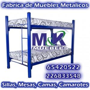 fabrica realiza camas camarotes con base metalica