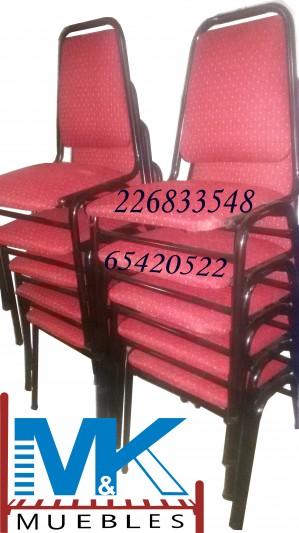 silla oficina, silla auditorio, silla municipal, etc