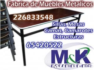 Fabrica realiza mesas base fija con base metalica