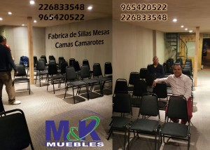 fábrica de muebles realiza sillas apilables de asiento y respaldo tapi