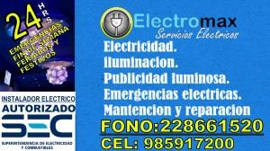 Emergencias electricas 24 hrs, instalador electrico autorizado sec
