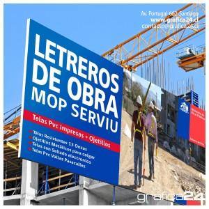 Letreros para obras de construccion, permisos de edificacion en pvc