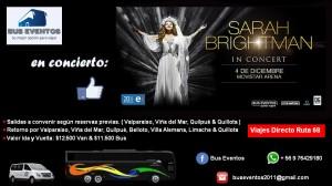 Bus al concierto de sarah brightman desde valparaÍso