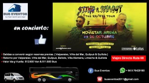 Bus o van de acercamiento al concierto de sting & shaggy movistar aren