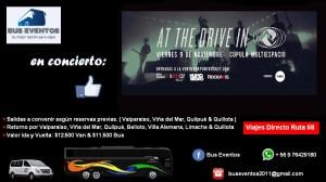 Bus o van al concierto de at the drive in desde valparaÍso