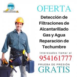 Detección de filtraciones de alcantarillado, gas y agua y reparación