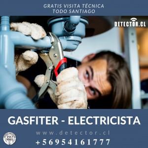 Gasfiter, detección/reparación fugas de gas, plomero chicureo