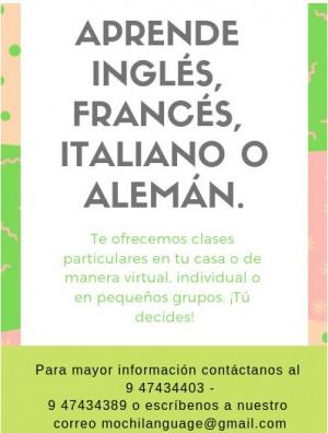 curso de inglés personalizado virtual o presencial