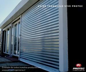 cortinas metalicas protec ingenieria en santiago