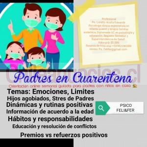 taller para padres en cuarentena con niños en casa