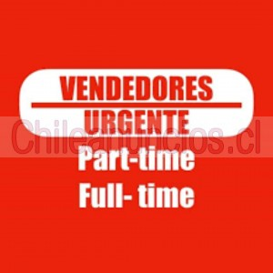 urgente con o sin experiencia ventas todo chile