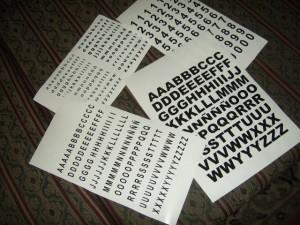 letras autoadhesivas, numeros autoadhesivos, figuras autoadhesivas