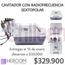 cavitador con radiofrecuencia sextopolar, máquinas de estética