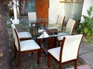 Mesa comedor vidrio 6 sillas casi nueva mesa comedor for Sillas comedor nuevas
