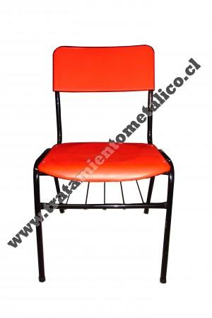 Fabrica de muebles realiza sillas apilables tapizada en - Muebles de polipropileno ...