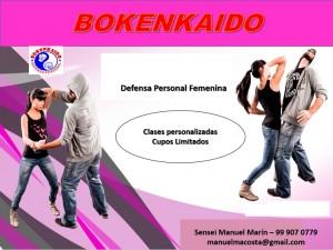 escoge día y hora y ven a entrenar defensa personal bokenkaido