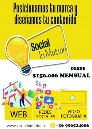 Social in motion Anuncios gratis en Chile en Providencia |  Gestion en redes sociales / paginas web, Redes sociales / paginas web/ marketing digital