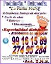 """Podología integral, para mantener los pies en muy buen estado. anuncio enviado a www.chileanuncios.cl por """"La Patita Feliz""""R el 2/4/2013"""