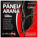 Panel ara�a con grafica impresa 230x210cm panel desplegable. Panel ara�a, panel publicitario, panel desplegable, pendon roller.